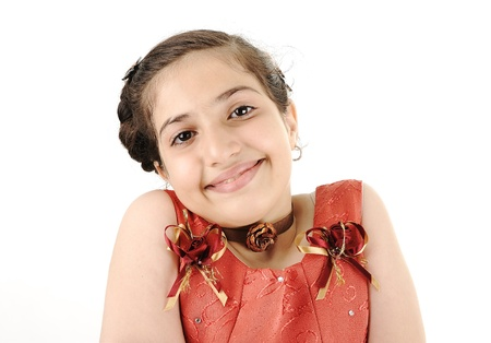 dance preteen: Adorable beautiful girl Stock Photo