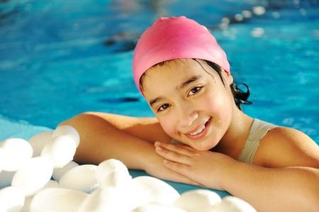 Girl in pool photo