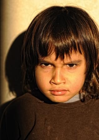 instigator: Mad furious kid Stock Photo