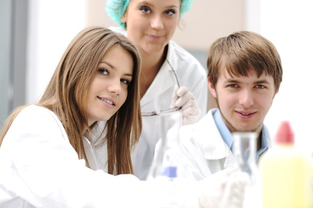 Successful teamwork inside the lab, research, young experts Stock Photo - 9017145