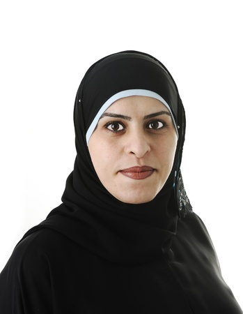 middle eastern clothing: Ritratto di donna arabo musulmano