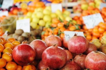 Fruits and vegetables market, bazaar