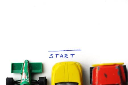 start of race: Carrera de autos, comienzo y fin de concepto