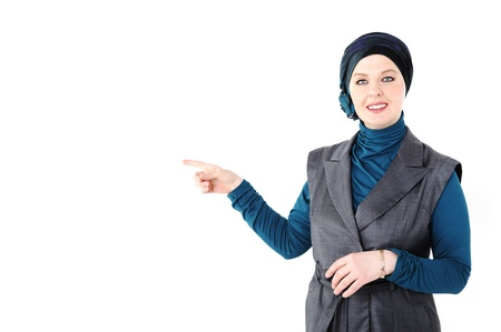 purdah: confident woman
