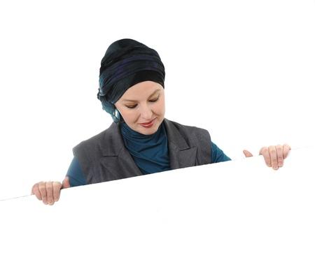 Confident and beautiful european  Muslim woman Stock Photo - 9469365