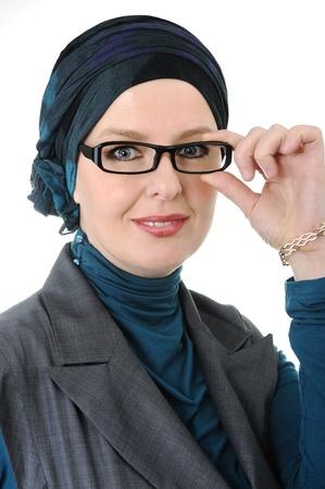Confident and beautiful european  Muslim woman photo