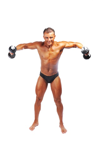 weightlifter: The Perfect male body isolated, bodybuilder performance