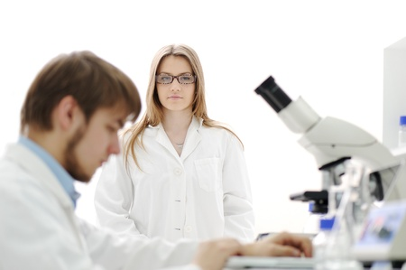 group of scientists working at the laboratory Stock Photo - 10087061