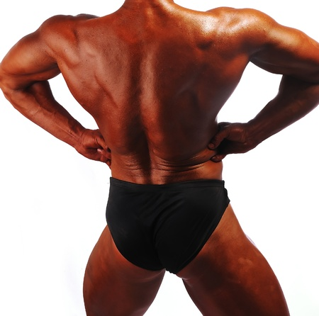 big ass: Bodybuilders Back Stock Photo