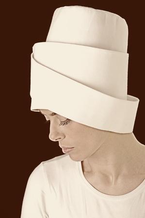 Sufi woman, sepia photo