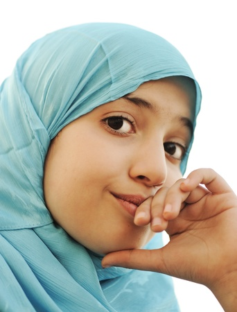 arab girl: muslim little girl Stock Photo