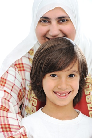 boy arabic: Mother and son, truly love