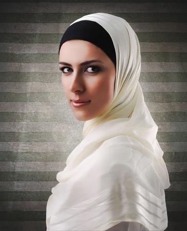 veils: Muslim beautiful girl Stock Photo