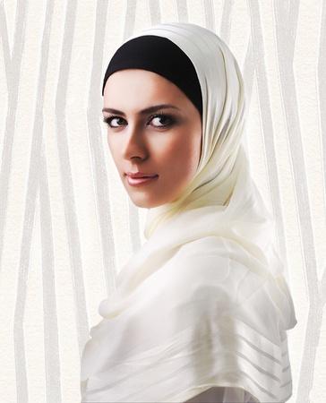 european ethnicity: Muslim beautiful girl Stock Photo