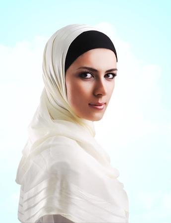 arab people: Muslim beautiful girl Stock Photo