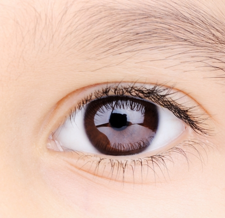 Child macro closeup eye Stock Photo
