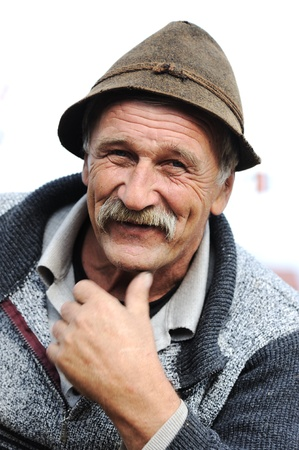 Very Nice Image of a Happy Old man Smiling photo
