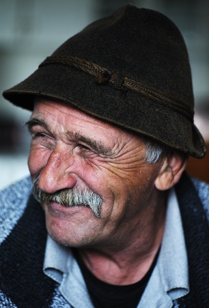 60 70: Portrait of old man with mustache