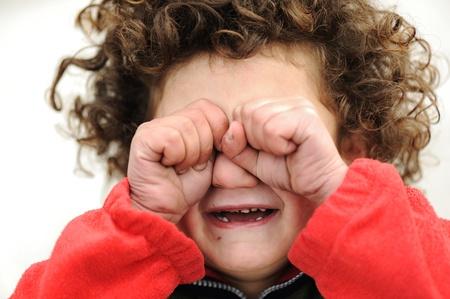 wees: Kind huilen Stockfoto