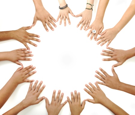 Hands in circle Stock Photo - 10316990
