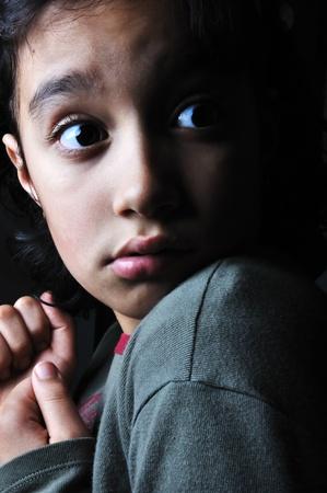 kidnap: Scared little girl