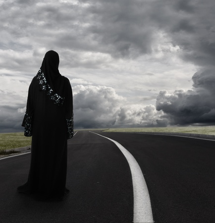 Arabic muslim woman photo