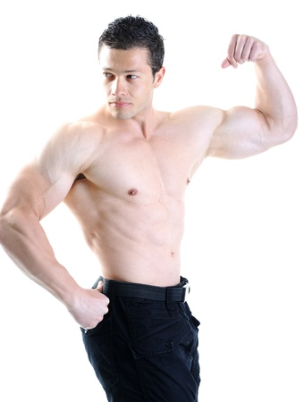 military man: The Perfect male body - Awesome bodybuilder posing