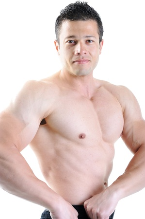 triceps: The Perfect male body - Awesome bodybuilder posing