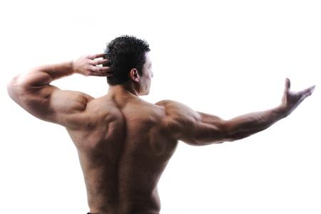 muskeltraining: The Perfect m�nnlichen K�rper - Awesome Bodybuilder posiert