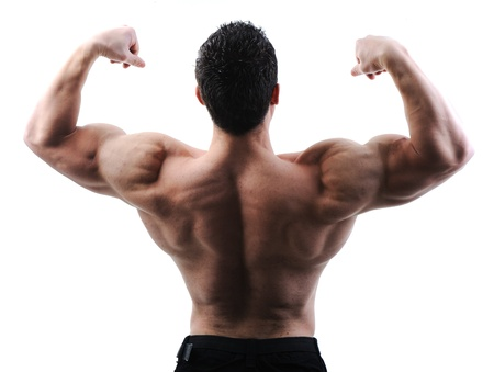 culturista: El cuerpo masculino perfecto - culturista impresionante posando