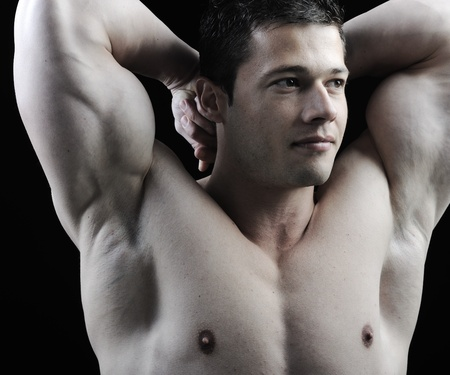 The Perfect male body - Awesome bodybuilder posing Stock Photo - 10317028