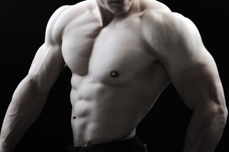 male torso: The Perfect male body - Awesome bodybuilder posing