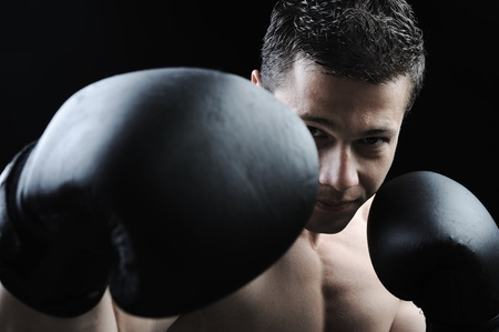 The Perfect male body - Awesome boxing fighter photo