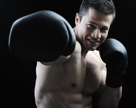 martial arts: The Perfect male body - Awesome boxing fighter