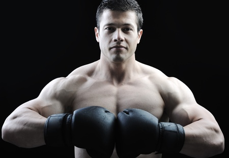 The Perfect male body - Awesome boxing fighter Stock Photo - 10316814