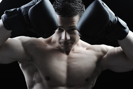 martial: The Perfect male body - Awesome boxing fighter