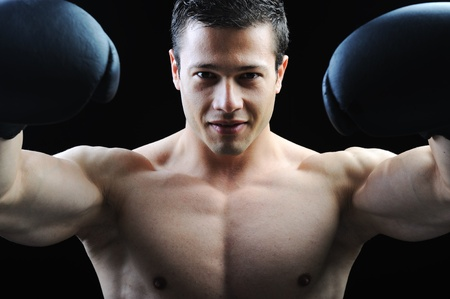 suntanned: The Perfect male body - Awesome boxing fighter