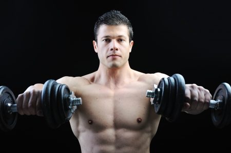 The Perfect male body - Awesome bodybuilder posing Stock Photo - 10316999