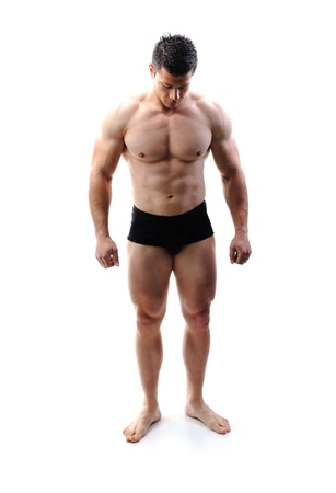 The Perfect male body - Awesome bodybuilder posing Stock Photo - 10316764