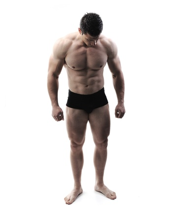 The Perfect male body - Awesome bodybuilder posing Stock Photo - 10316765