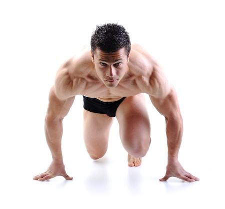 culturista: El cuerpo masculino perfecto - culturista posando Awesome