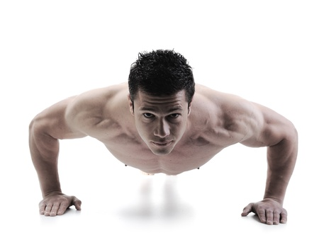 push up: The Perfect male body - Awesome bodybuilder posing