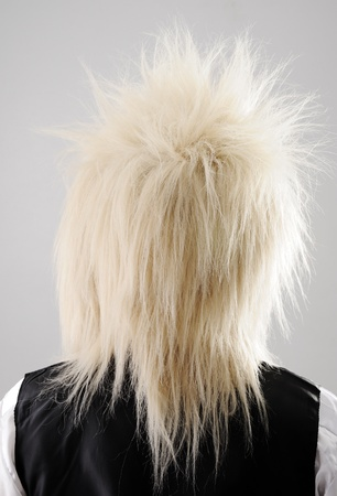 Hair back wig person photo