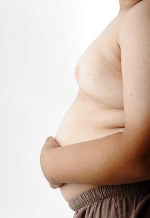 ni�os enfermos: Fat Boy, la mano sobre el est�mago