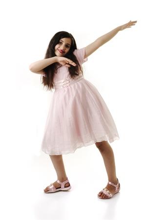 Little Dancing Jumping Girl. photo