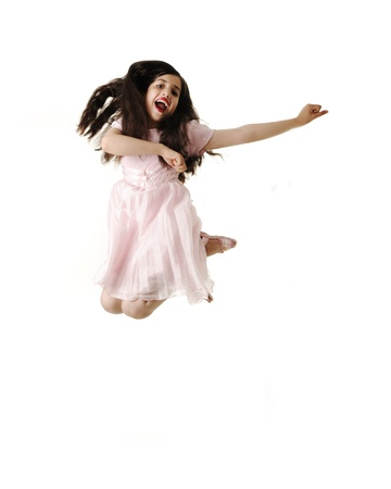 dance preteen: Little Dancing Jumping Girl.