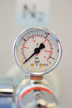 pressure gauge: Barometer, nitrogen in hospital lab