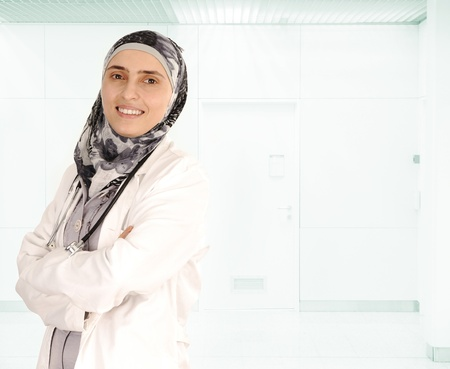 ordinary woman: Muslim female doctor in hospital