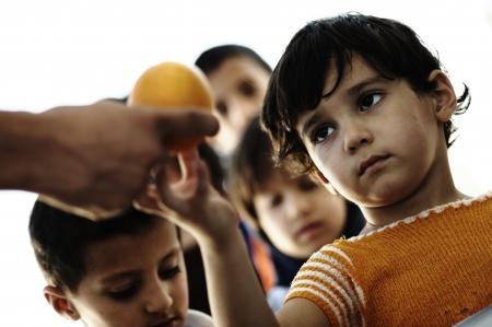 armoede kinderen Stockfoto