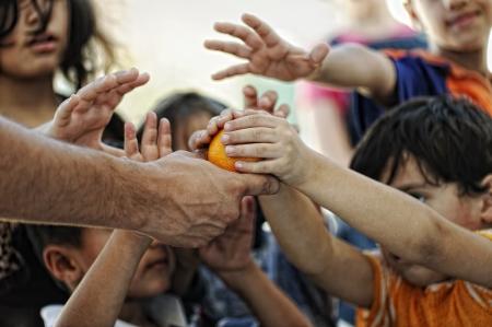 vagabundos: los niños de la pobreza Foto de archivo